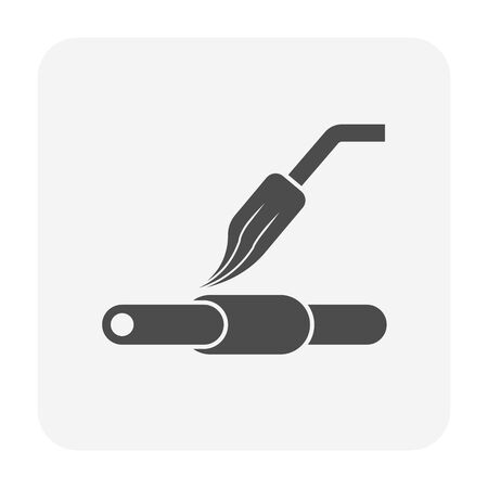 Copper pipe welding and tools icon design.