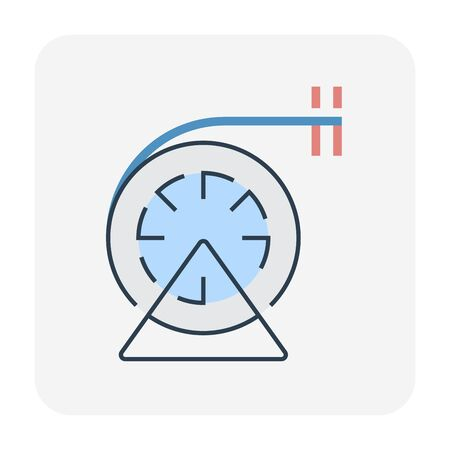 Brush for duct cleaning icon, editable stroke.
