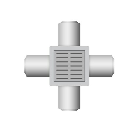 Manhole or sump pit icon for drainage system.