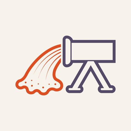 Concrete pouring and pipe vector icon design.