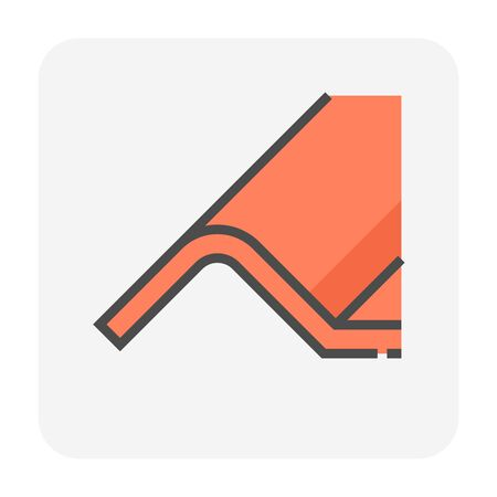 Roofing material icon design. Vettoriali
