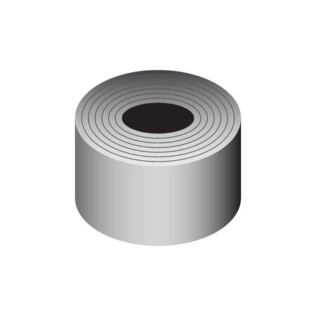 Vector icon of steel roll product icon design for steel production industrial graphic design element.