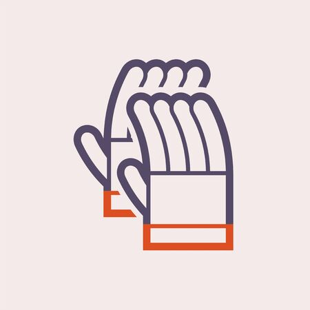 Safety glove icon for industry icon.