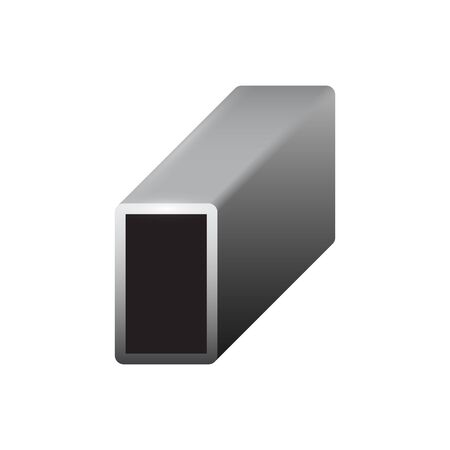 Vector icon of steel pipe product icon for steel production industrial graphic design element.