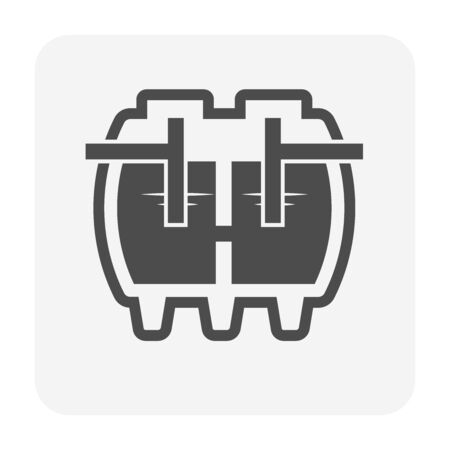 Septic tank icon design for water treatment system concept design.