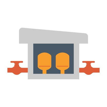 Water treatment building icon, editable stroke.