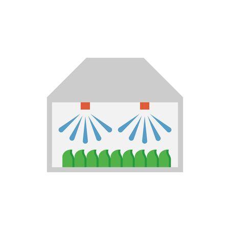 Water sprinkler spray vector icon design for gardening graphic design element.
