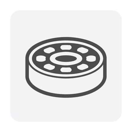Bearing ball vector icon design on white background. Illustration