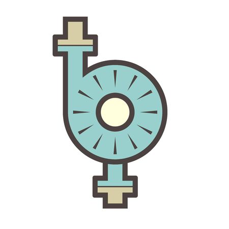 Water pump and water pipe vector icon design for distribution water. Vektorové ilustrace
