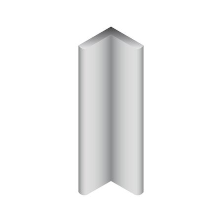 Vector icon of steel beam and pipe product.