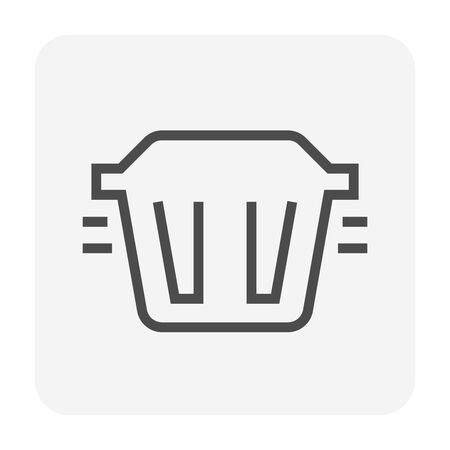 Grease trap icon design for water treatment system concept design, editable stroke.