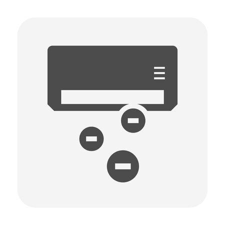 Air conditioner and ionizer vector icon design.