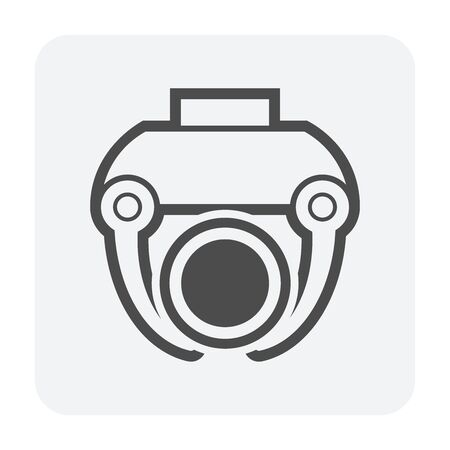 Steel pipe lab testing vector icon design on white background. 向量圖像