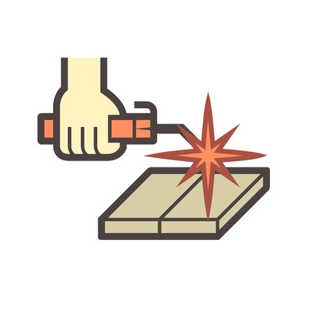 Welding work and tools vector icon design.