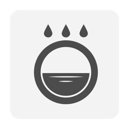 Garden drainage system and equipment icon set for landscaping work design. Stock Illustratie