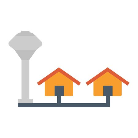 Water tank icon design. Illustration