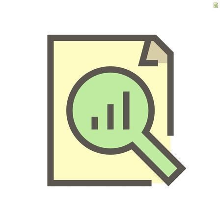 Document and business graph monitoring vector icon design, 48X48 pixel perfect and editable stroke.