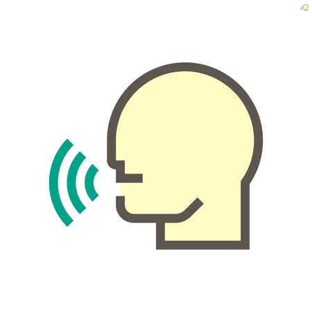 Smart home and voice control technology vector icon design, 48x48 pixel perfect and editable stroke.