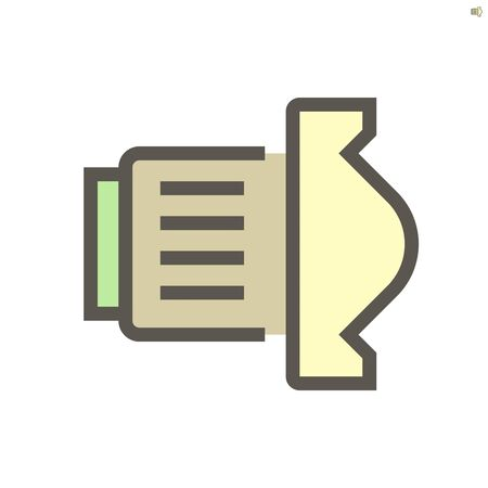 Camera lens vector icon design, 48x48 pixel perfect and editable stroke. Illustration