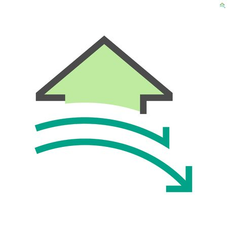 Decrease concept design of real estate vector icon design, 48x48 pixel perfect and editable stroke. Vektoros illusztráció