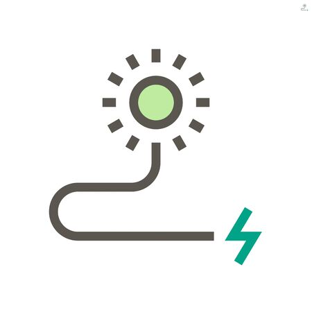 Solar energy for electric car vector icon design, 48x48 pixel perfect and editable stroke.