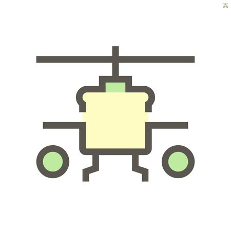 Military helicopter vector icon design for military and army graphic design element.
