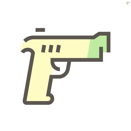 Gun vector icon design for military and army graphic design element.