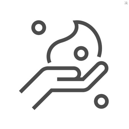 Cleaner foam and hand washing vector icon design, 64x64 pixel perfect and editable stroke. Vettoriali