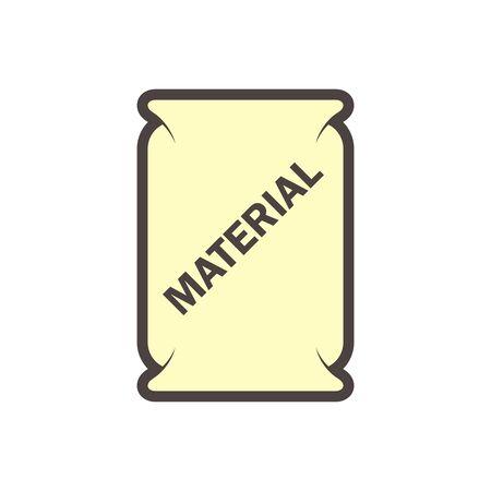Cement bag vector icon design on white.