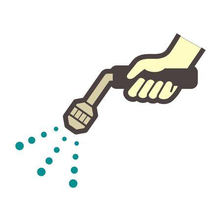 Spray water  vector icon design on white.
