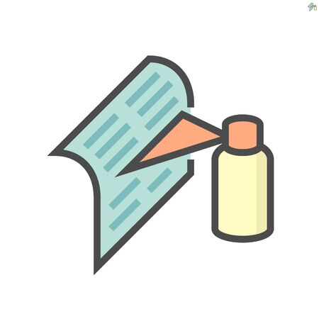 Air conditioner filter cleaning vector icon design, 64x64 pixel perfect and editable stroke.