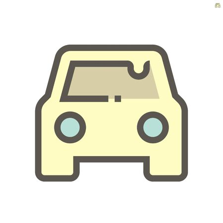 Car dirty condition vector icon design, 48x48 pixel perfect and editable stroke. 向量圖像