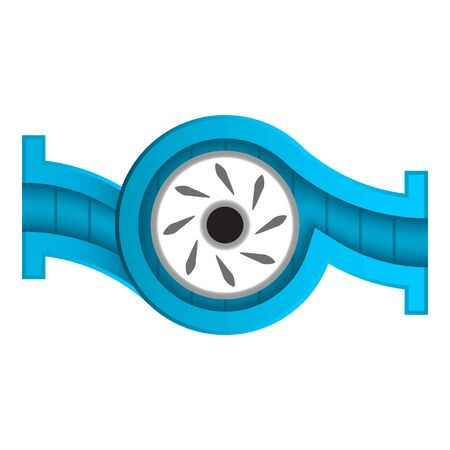 Water pump section and blade icon.