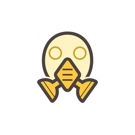 Gas mask or safety equipment vector icon design.