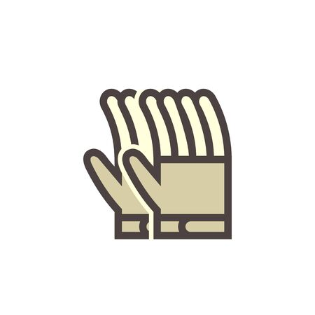 Glove or safety equipment vector icon design. 向量圖像