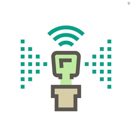 Smart home and automatic sprinkler technology vector icon design, 48x48 pixel perfect and editable stroke.