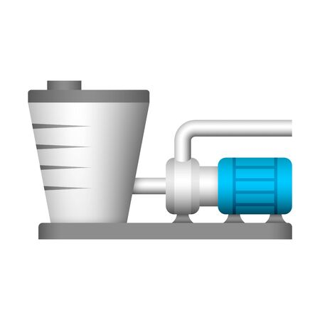 Water pump and water tank icon design. 向量圖像