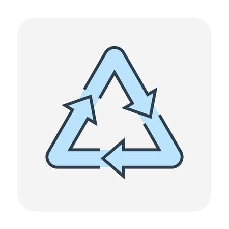 Recycle icon, editable stroke.