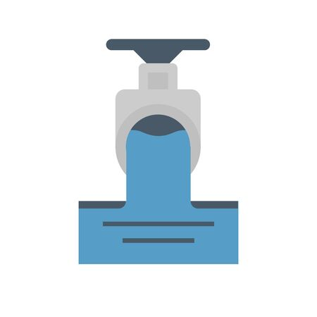Sewage water and valve icon.