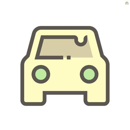 Car dirty condition vector icon design, 48x48 pixel perfect and editable stroke. Vectores
