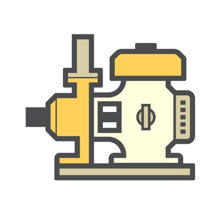 Agricultural water pump and engine vector icon design.