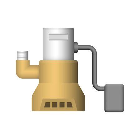 Submerged water pump icon design. 向量圖像