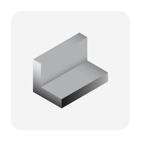 Vector icon of steel product vector icon design for steel production industrial graphic design element.