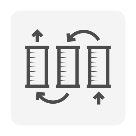 Water filtration system and accessory icon design for water purify work design.