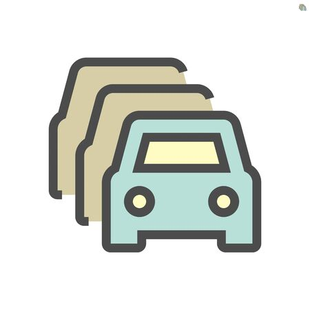 Car for sale vector icon design, 48X48 pixel perfect and editable stroke.