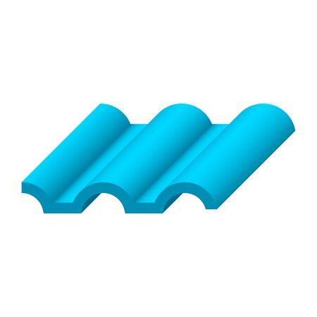 Roofing material or roof tile icon design. Vecteurs