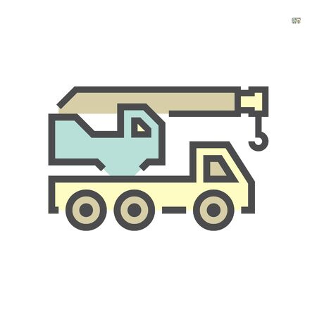 Mobile crane icon, 64x64 perfect pixel and editable stroke.