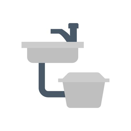 Sink and grease trap icon.