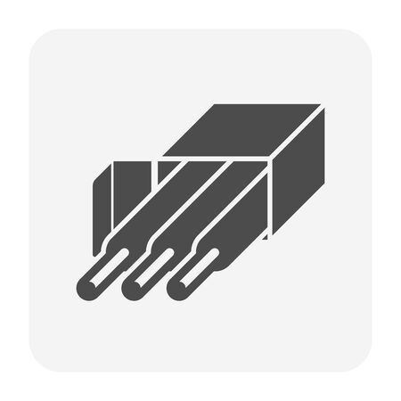 Wire for welding work vector icon design.