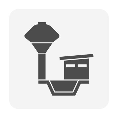 Water tank vector icon design for water work graphic design element. Illustration